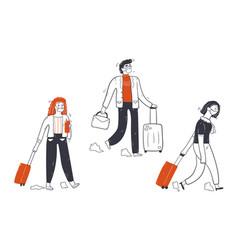 travelling coronavirus outbreak tourism concept vector image