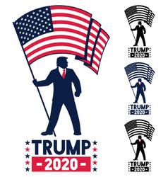 Trump 2020 campaign symbol vector