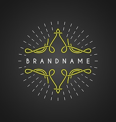 Vintage Label Logotype Insignia Badge for Your vector image