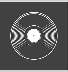 Vinyl record isolated on a black background vector