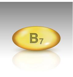 Vitamin b7 vitamin drop pill vector