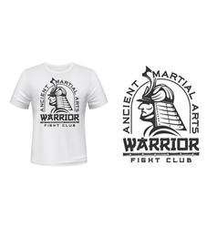 Warriors fight club t-shirt print martial arts vector