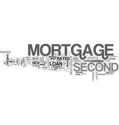 When to get a second mortgage text word cloud vector