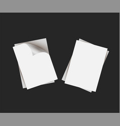 white clean paper templates vector image
