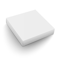 White square box template vector image