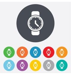 Wrist Watch sign icon Mechanical clock symbol vector