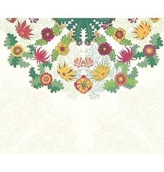 Decorative floral ornament invitation card vector image vector image