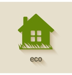 green house eco symbol vector image vector image