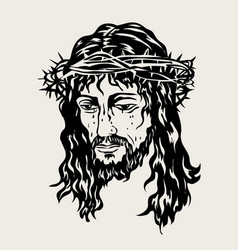 The face of the lord jesus passion vector