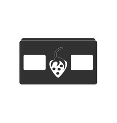 black icon on white background videocassette and vector image vector image