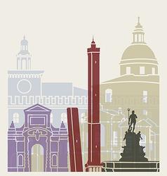 Bologna skyline poster vector image