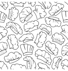 Chef hat baker toque cook cap seamless pattern vector image vector image