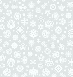christmas seamless pattern with snowflakes light vector image vector image