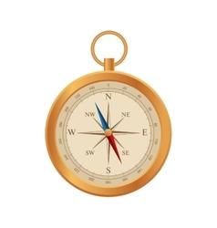 Compass Wind rose retro design Flat 3d vector image