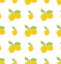 Fruit background Seamless pattern with hand drawn vector image vector image