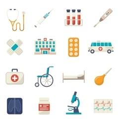Medical Icons Flat Set vector image vector image