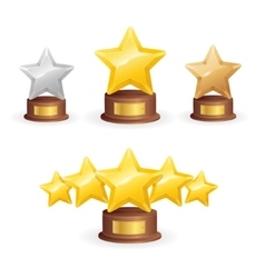 Star Award Set vector image