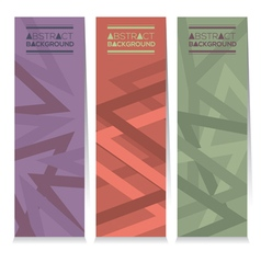 Vertical Banner Set Of Three Modern Graphic vector image vector image