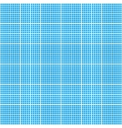 White graph grid on cyan paper seamless pattern vector image vector image