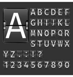 Airport Board Alphabet vector image vector image
