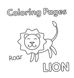 cartoon lion coloring book vector image vector image
