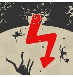 The international economic crisis vector image vector image