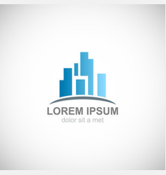 building city business logo vector image vector image