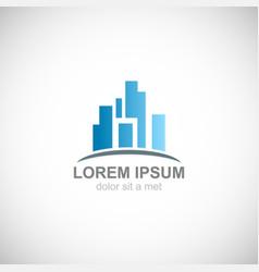 building city business logo vector image
