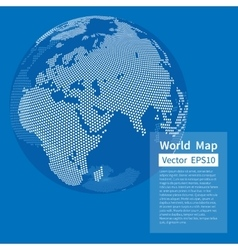 Dotted world map background earth globe vector