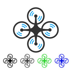 flying quadcopter flat icon vector image