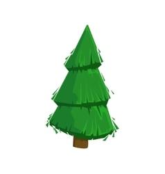 Green Fir Tree Woods Natural Landscape Design vector image vector image