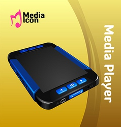 mp4 player vector image