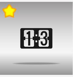 scoreboard black icon button logo symbol vector image