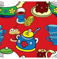 tea cake pattern vector image vector image