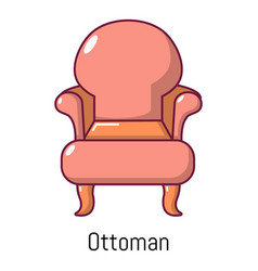vintage armchair icon cartoon style vector image