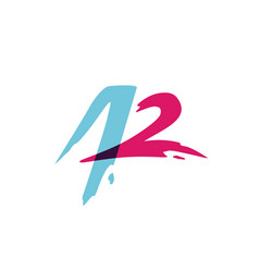 a2 42 letter number monogram overlap overlapping vector image