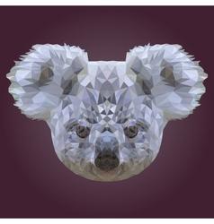 Abstract Low Poly Koala Design vector