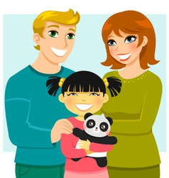 adoptive family vector image
