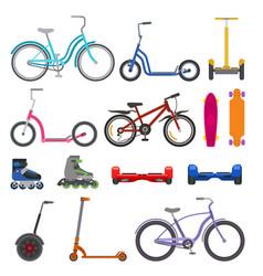 Alternative city wheel transport and urban circle vector