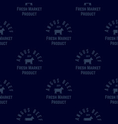 Angus beef seamless pattern vector