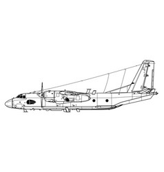 Antonov an-26rt curl-b vector