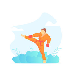 Asian martial arts fighter wushu fighter vector