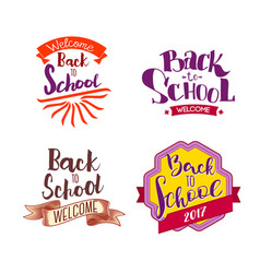 back to school tags vector image
