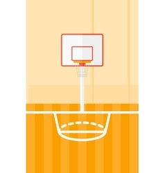 Background of basketball court vector