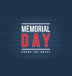 Background of memorial day vector