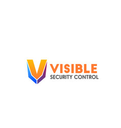 badge for security control business vector image