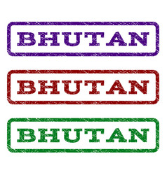 Bhutan watermark stamp vector