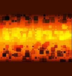 Black orange red yellow glowing various tiles vector