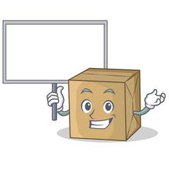 Bring board cardboard character character vector