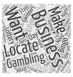 Bwg best gambling business word cloud concept vector